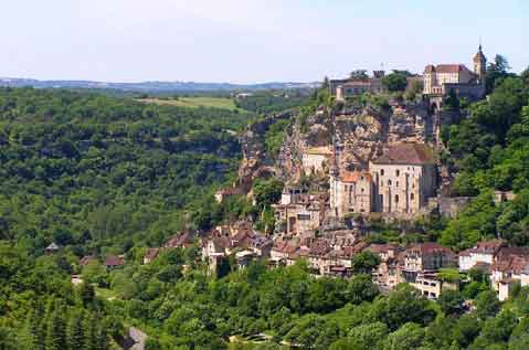 Rocamadour near the golden triangle in Black Périgord